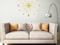 Ceas de perete, auriu, 70 cm, metal 283857