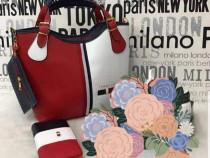 Set firmă T H geanta +portofel