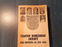 Teatrul romanesc inedit din sec 19 Paul Cornea