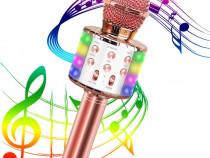 Microfon Karaoke, bluetooth, portabil, iOS Android fara fir