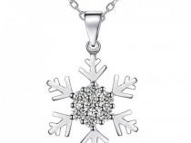 Pandantiv colier argint 925, zirconiu cubic, 45cm Snow Elves