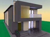 Proiect rezistenta si arhitectura casa moderna lux