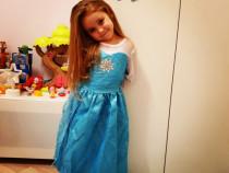Rochie rochita Noua printesa Elsa Frozen 3, 4,5, 6 ani