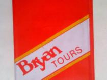 Mapa turistica Bryan Tourist pentru bilete turistice 1975