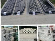 Matrite garduri ornamentale din beton