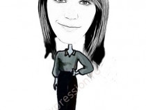 Caricaturi Digitale Tiparite Pe Hartie Foto A4