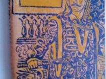 Caiet vechi romanesc cu arc, an 1963 coperta Stefan cel Mare