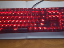 Tastatură gaming mecanică Redragon Mitra, switch blue, roșie