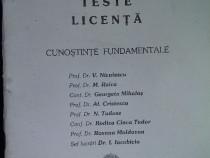 Teste licenta cunostinte fundamentale , UMF Timisoara , 1999