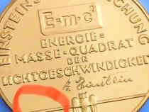 Albert Einstein Moneda argint pl cu aur 40 gr
