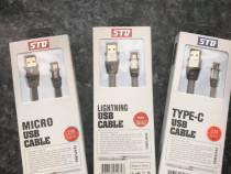Cablu USB-C, Micro-USB, Lightning