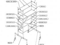 Turn schela mobila modulara H=8,5 m L=1 m