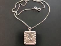 Argint Lant + Medalion Zodia Gemeni
