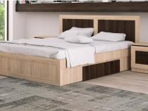 Set dormitor stejar bardolino, pat + comoda + noptiere +/- s