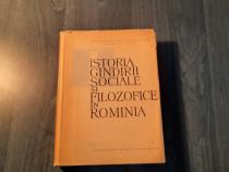 Istoria gandirii sociale si filozofice in Romania