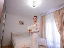 Rochie de Mireasa Sirena, model UNICAT, Nude
