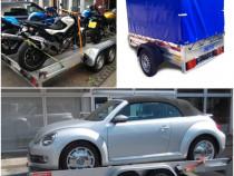 Inchiriez remorca 750kg si platforma auto 2000kg