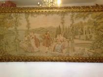 Tapiserie Vintage, 2,13M, Rama Lemn Sculptat Si Aurit Tablou