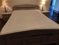 Set dormitor din lemn natural