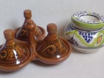 2 piese ceramica smaltuita vechi, MAROC