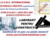 Curs laborant pentru construcții