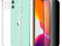 Iphone 11 / PRO / MAX - Husa Silicon Protectie Camera +Folie