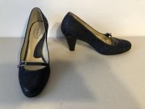 Pantofi deosebiti Passo Doble originali, noi, din piele natu