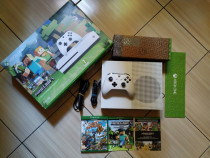 Xbox One S full box, Minecraft Limited Edition, 250 jocuri!