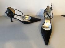 Pantofi decupati Accademia, din piele naturala (interior, ex