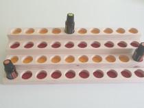 Suport - stativ din lemn pentru sticlute uleiuri esentiale
