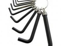 Set chei imbus 1,5-10 mm,10 buc.,oxidate,la inel