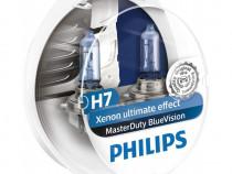 Bec Philips H7 24V 70W Masterduty Bluevision Set 2 Buc