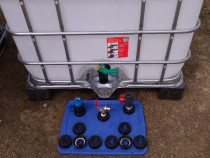 Bazin cub 1000 litri-reducţie,Robinet,adaptor ibc