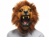 Masca latex Leu furios party Halloween petrecere zoo animal