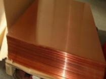 Tabla cupru 0.8x1000x2000mm min. 99.9%Cu Cu-DHP Cu-ETP alama
