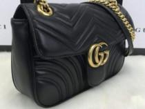 Geantă model Marmont logo metalic auriu ,saculet inclus