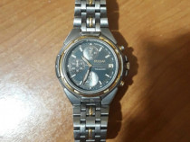 Ceas elvetian Pulsar Titanium Chronograph placat cu aur