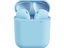 Casti Bluetooth inPods 12, carcasa, Handsfree, Albastru C381