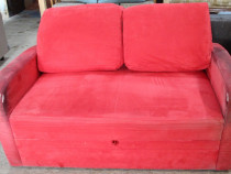 Canapea extensibila 2 locuri cu perne; Pat cu Saltea 200x120