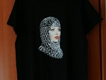Tricou unisex negru TShirt Factory model Delia mar. L - Nou