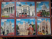 """Tablou puzzle """"Anglia - 6 Edificii importante"""""""