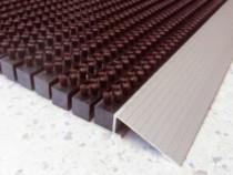 Covor intrare maro cu profil din aluminiu(785 x 475 mm) ABI