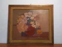 Tablou, Lili Pancu - Splendid Vas cu Flori in ulei pe carton