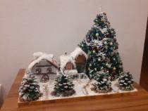 Decoratiune iarna la sat