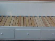 Cadru Divan tip Ikea cu 3 sertare; Pat extensibil cu Somiera