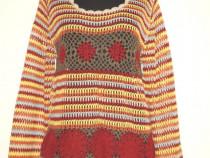 S.Oliver, Pulover crosetat, colorat