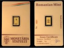 Lingou aur 2 grame sigilat 24k monetaria statului
