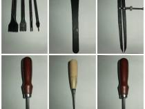 Set unelte pentru lucrul cu piele