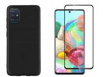 Samsung A20s A21s A41 A42 - Husa Silicon + FolieSticla 11D