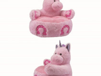 Fotoliu unicorn de plus, 47 cm, culoare roz, nou, cadou nou